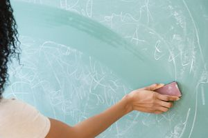 Erasing a chalkboard