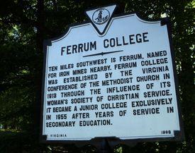 Ferrum College Historic Marker