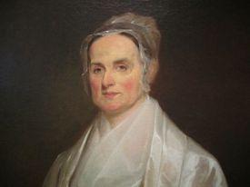Full color portrait of Lucretia Mott.