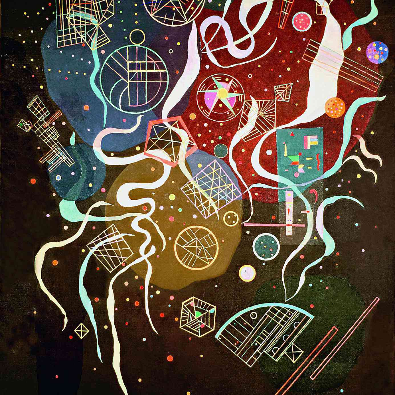 Wassily Kandinsky (Russian, 1866-1944) Wassily Kandinsky (Russian, 1866-1944). Movement I (Mouvement I), 1935. Mixed media on canvas. 45 11/16 x 35 in. (116 x 89 cm). Bequest of Nina Kandinsky, 1981. The State Tretyakov Gallery, Moscow.