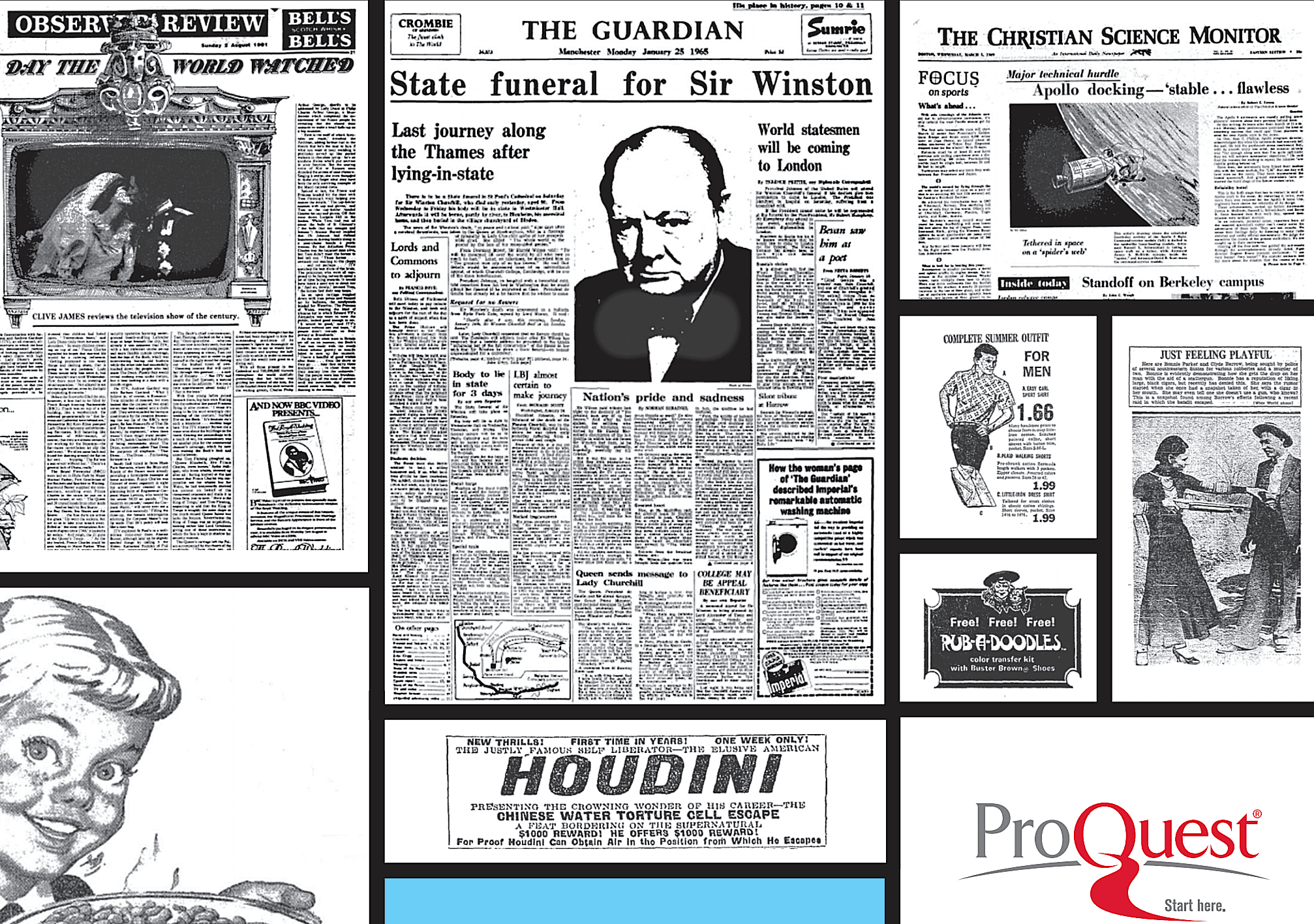 Contact your local public or academic library to see if they offer free access to ProQuest Historical Newspapers.