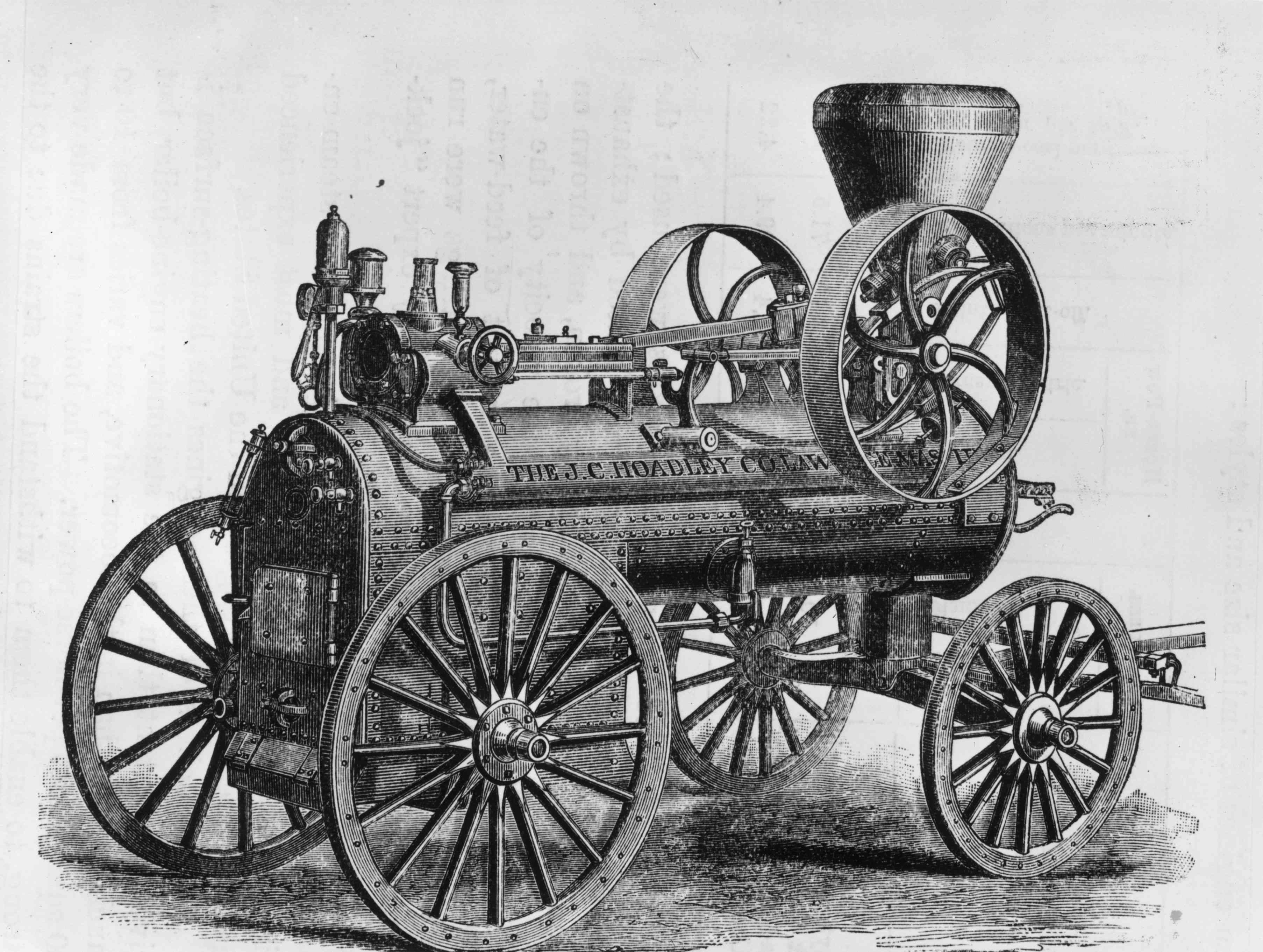 1787 drawing of a potable James Watt steam engine