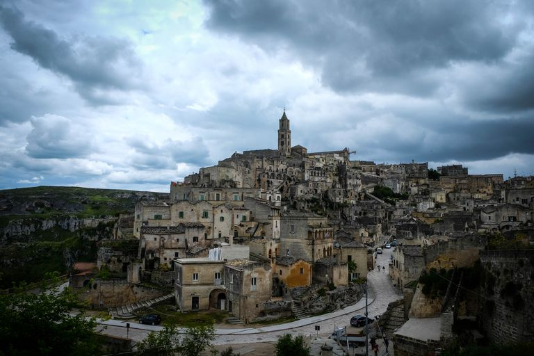 View of Matera in southern Italy