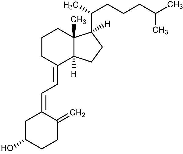 This is the chemical structure of cholecalciferol or vitamin D3.
