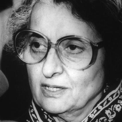 Indira Gandhi, prime minister of India, during the 1970s.