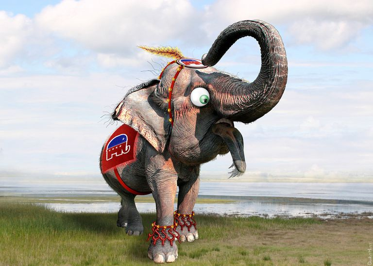 GOP Elephant Graphic