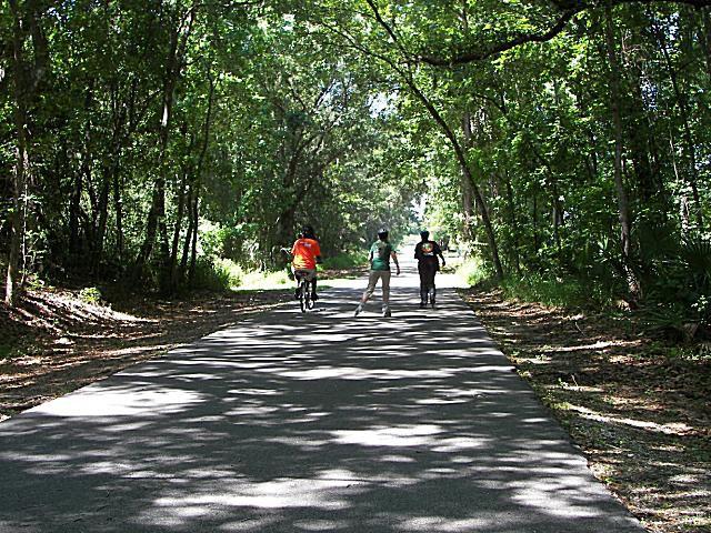 People on bikes west orange bike trail florida riders