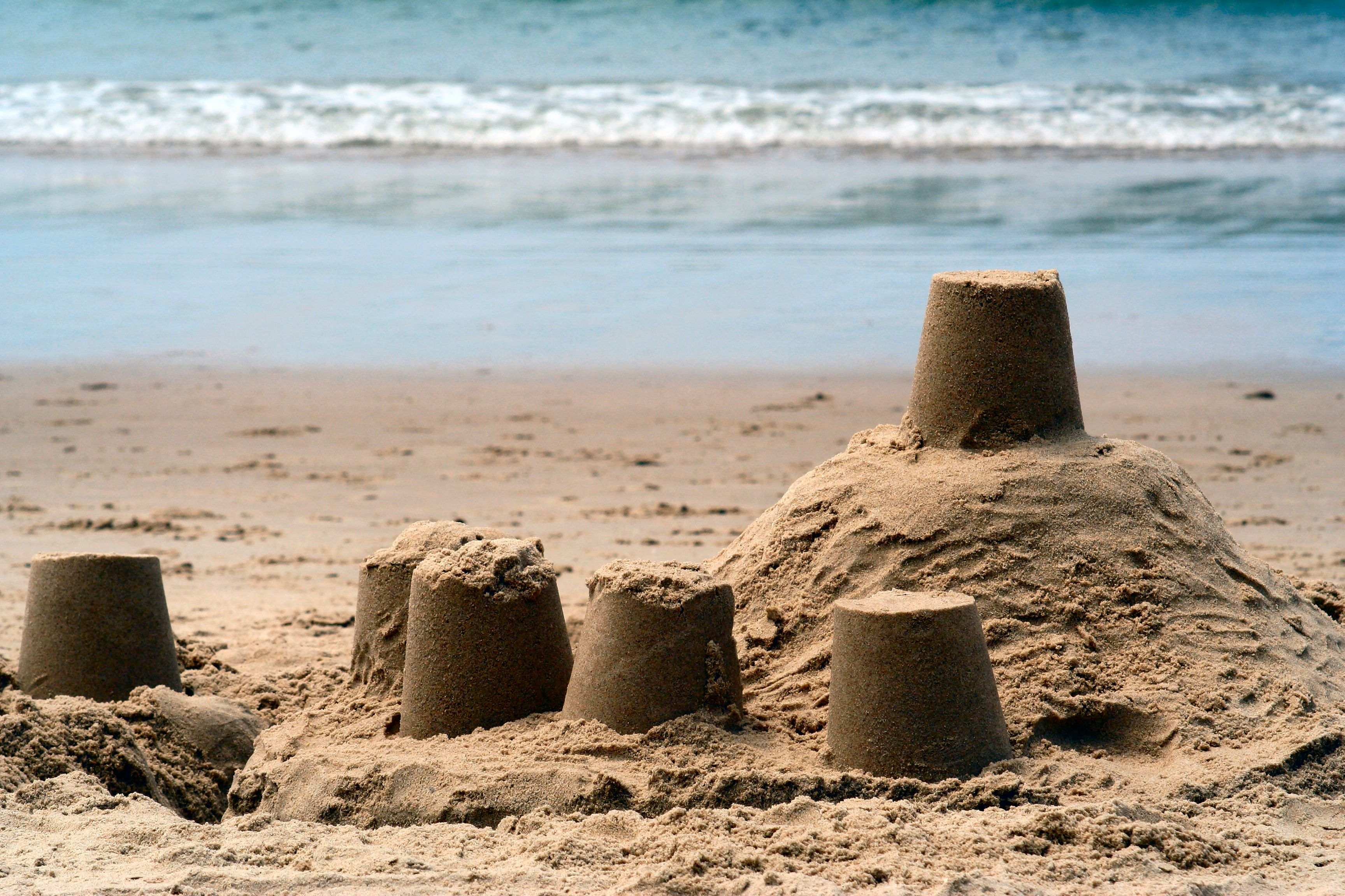 When you mix sand and water to build a sandcastle, you are making a type of homemade quicksand.