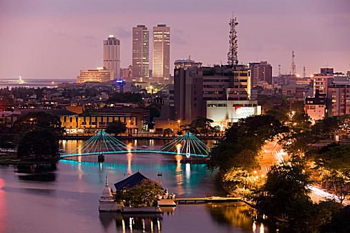 Sri Lanka's financial district is the heart of one of South Asia's booming economies.