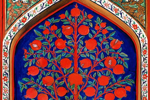 17th-century depiction of the Tree of Life in Palace of Shaki Khans, Azerbaijan