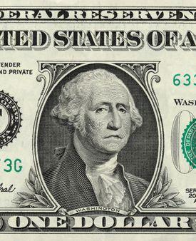 Imagen de George Washington en billete de $1