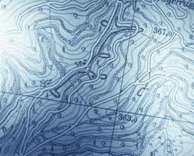 Contour Lines on Map