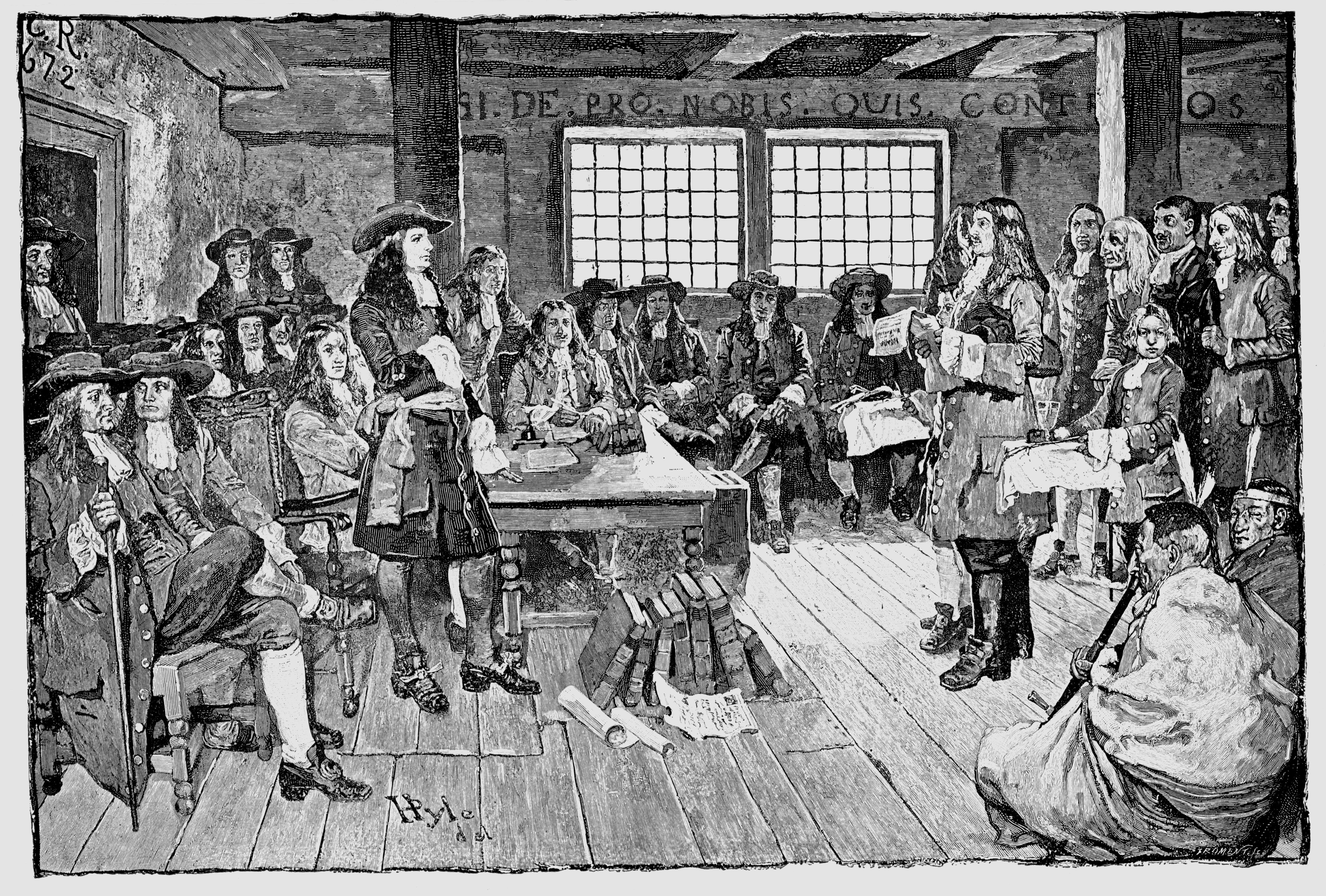 William Penn (1644-1718) English Quaker and colonialist, founder of Pennsylvania, 1682.