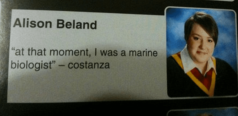 Hilarious yearbook quotes that belong a hall of fame yearbook quotes costanzag urtaz Images