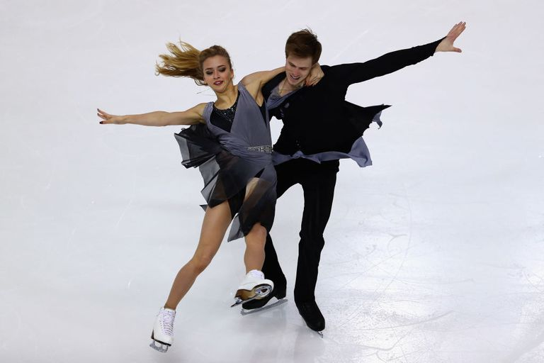 Ice dancers Victoria Sinitsina and Nikita Katsalapov of Russia