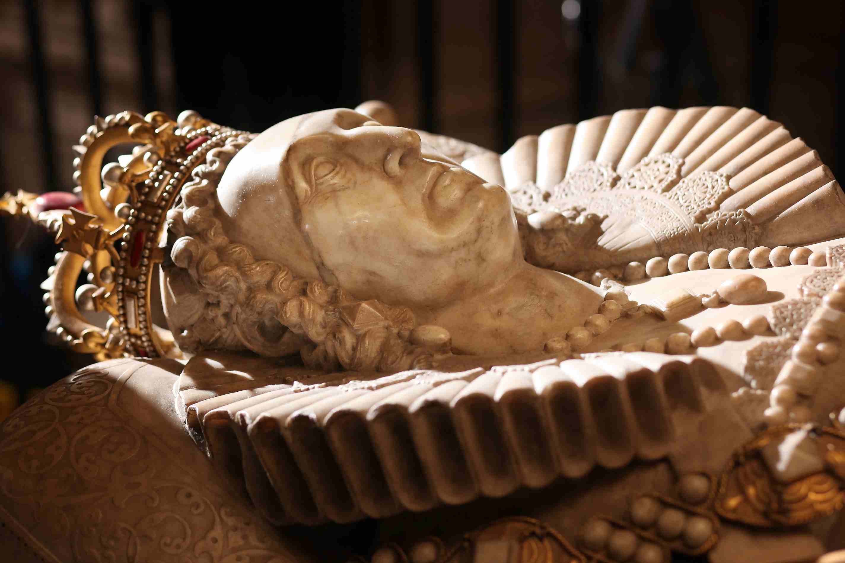 Tomb of Queen Elizabeth I in Westminster Abbey