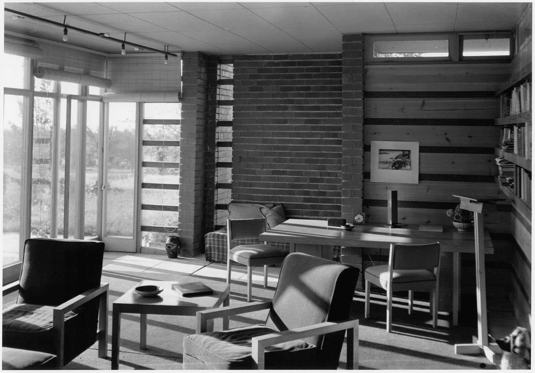 Herbert Jacobs House in Madison, Wisconsin, interior view