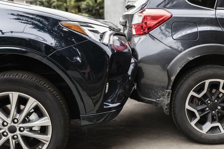 aftermath of a minor car crash