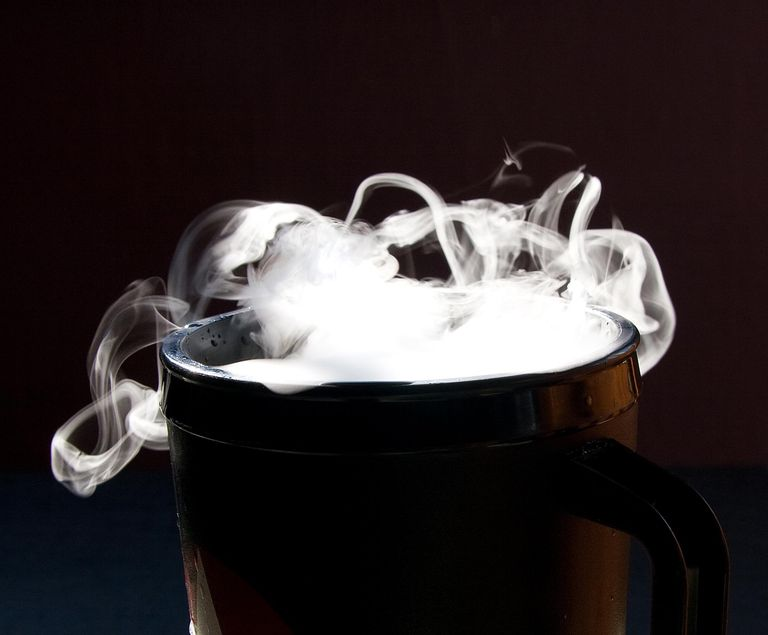 You can make dry ice fog simply by dropping a chunk of dry ice into a cup of water.