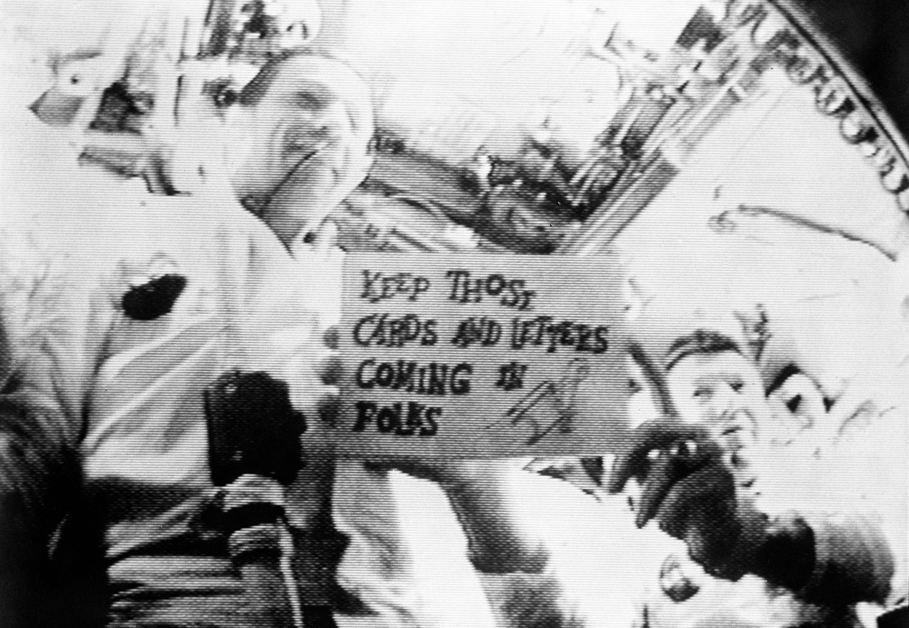 Astronauts on Apollo 7 broadcast from space
