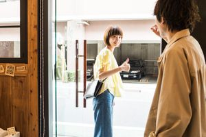Japanese friends saying hi