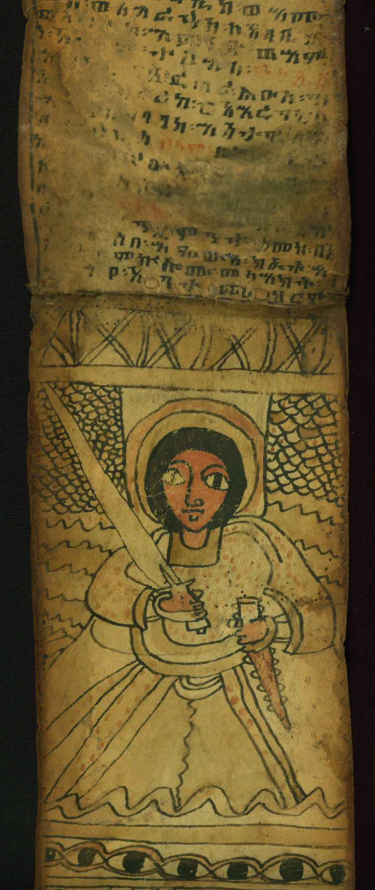 An Ethiopian scroll with prayers to Archangel Phanuel