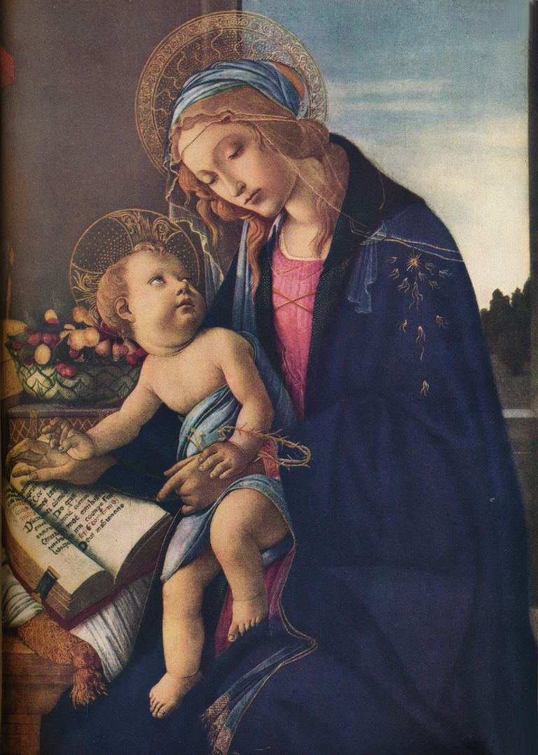 Painting of 'The Virgin and Child'