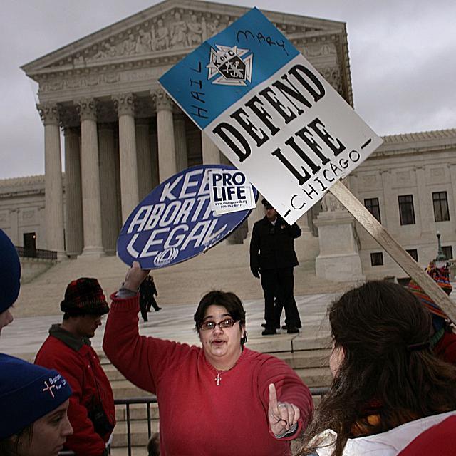 Roe v. Wade Protest at Supreme Court Building