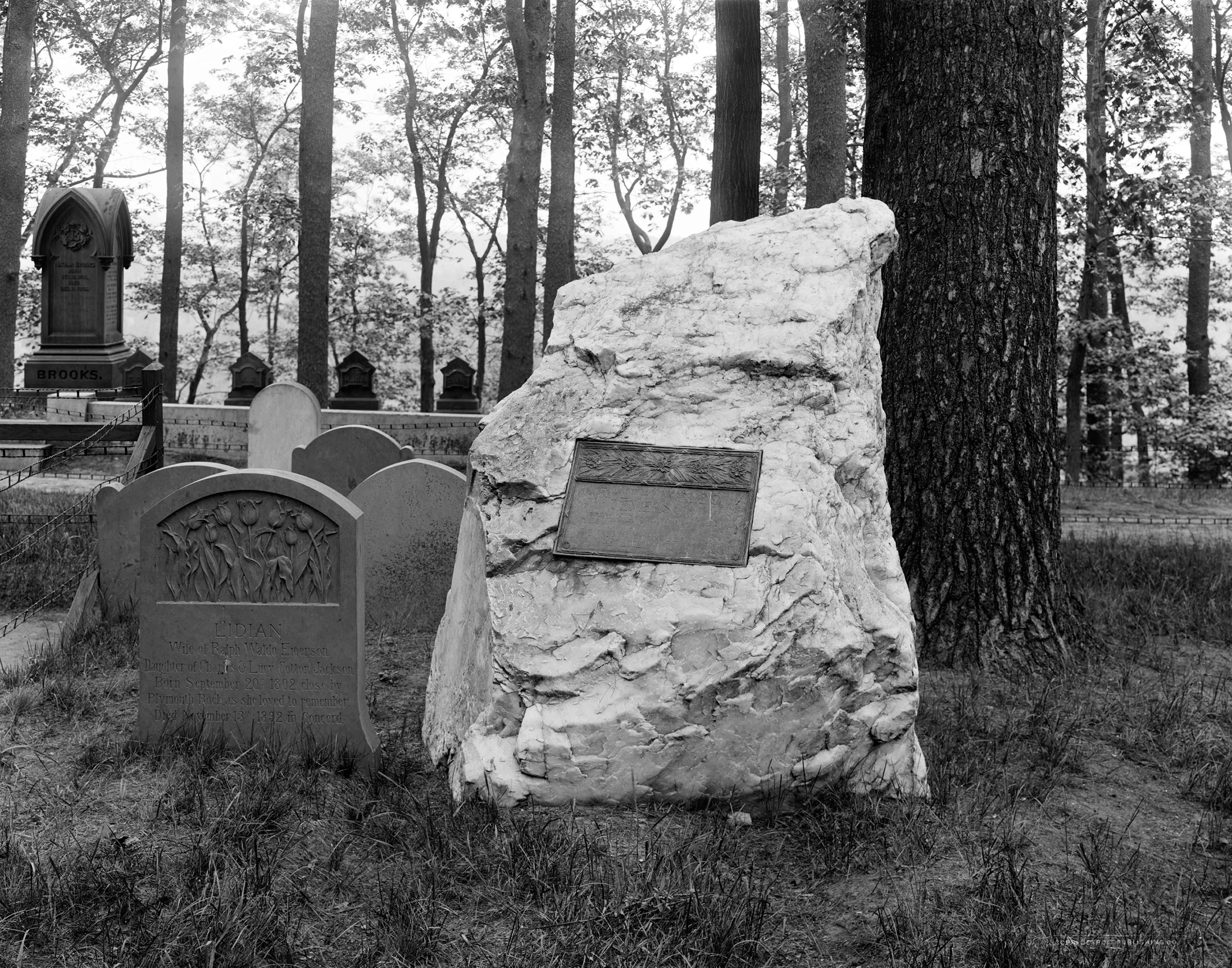 Photograph of Emerson's gravestone