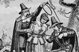 Bridget Bishop Hanged at Salem