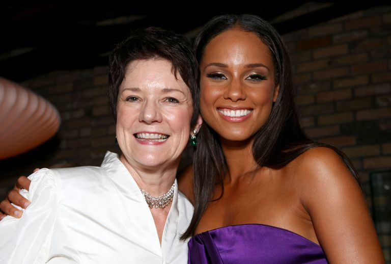 Sue Monk Kidd (left) with Alicia Keys