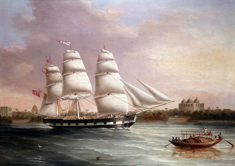 'John Wood Approaching Bombay', c1850. Artist: Joseph Heard