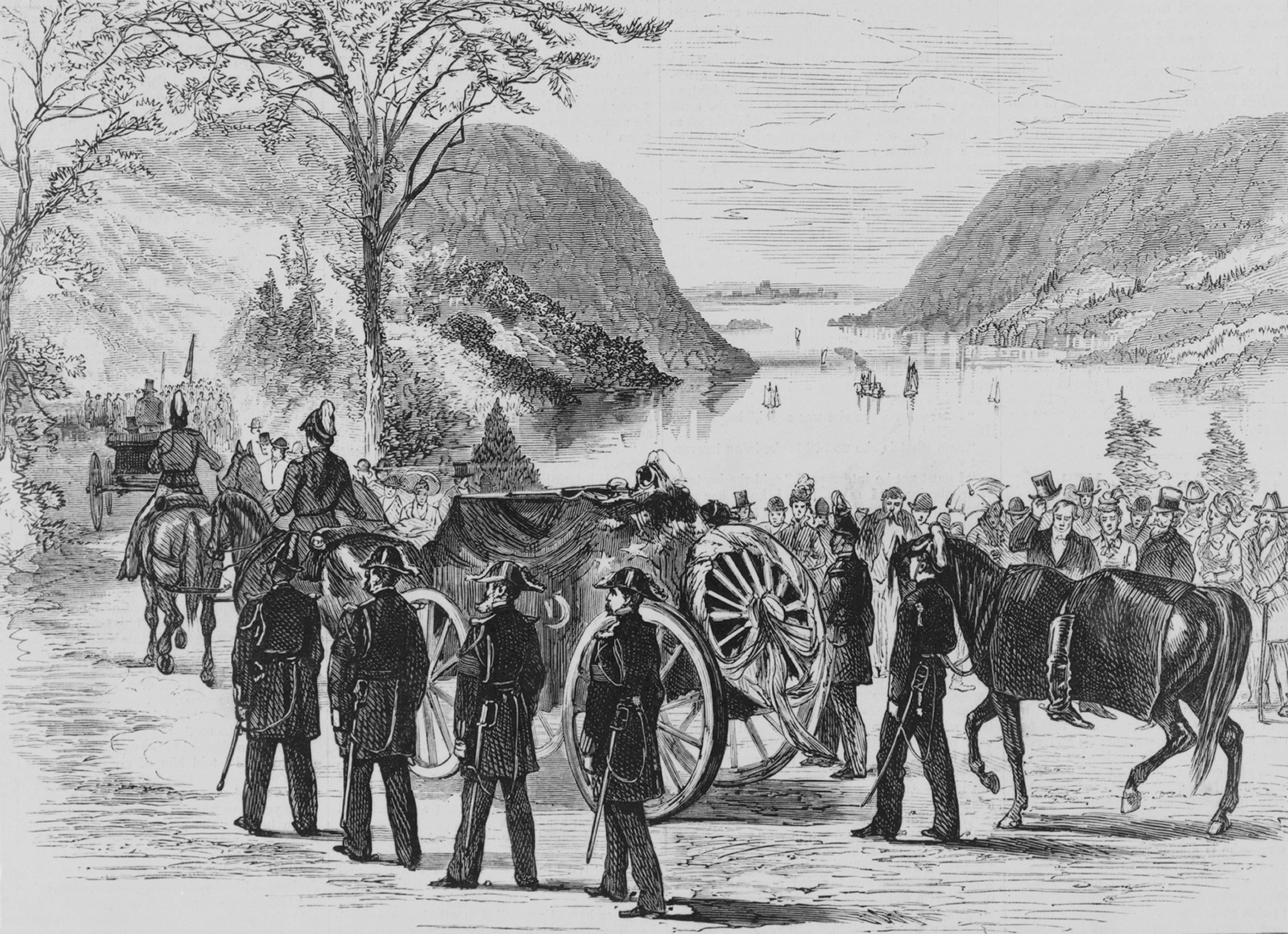 Funeral of General Custer at West Point