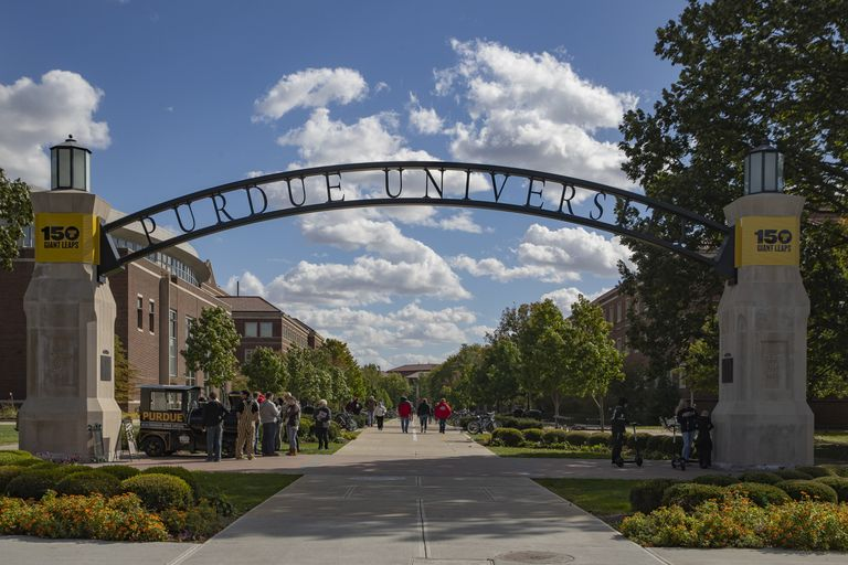 View of the Purdue University campus