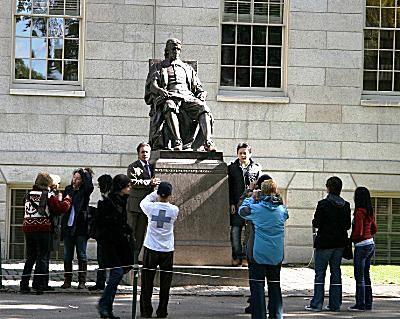 Harvard University - Statue of John Harvard