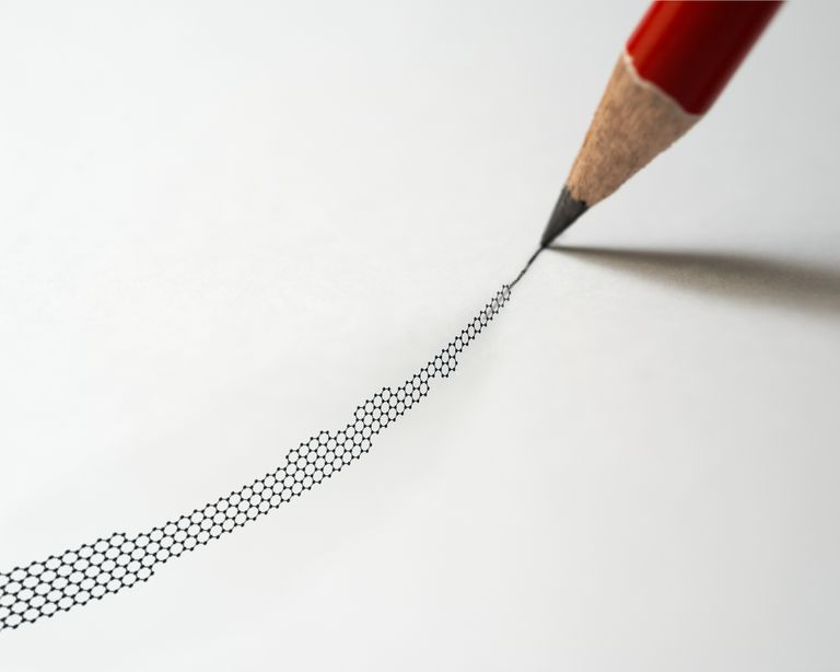Graphite pencil and graphene