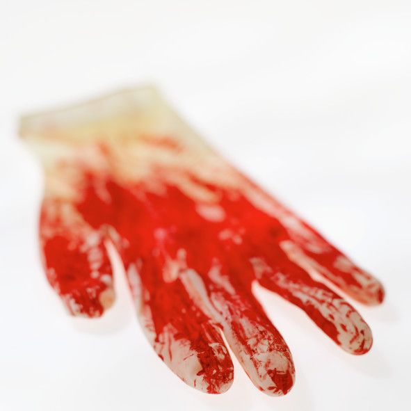 You can make realistic-looking blood from corn syrup, food coloring and cocoa.