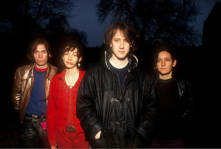Portrait of My Bloody Valentine photographed on the Loveless Tour in Cambridge, England in 1991.