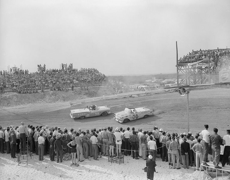 View of National Association of Stock Car Racing in 1957.