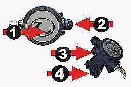 Description Of Scuba Diving Regulator Parts