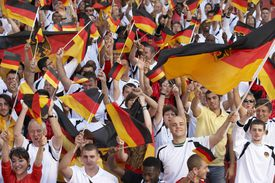 German fans cheering