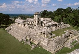 View of the Palace, Palenque (Unesco World Heritage List, 1987), Chiapas, Mexico, Mayan civilization, 7th-8th century