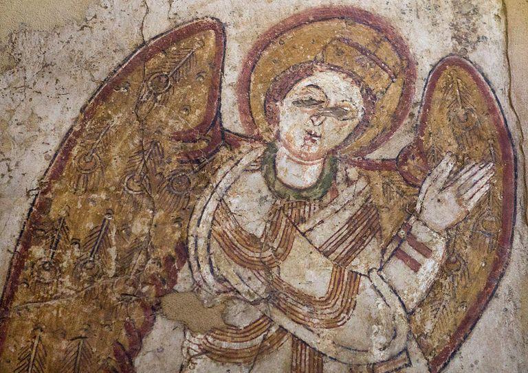 Sudan, Khartoum State, Khartoum, archangel michael from petros cathedral, faras, in the national mus