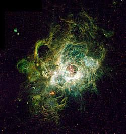 NGC 604, a region of ionized hydrogen in the Triangulum Galaxy.