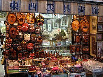 Mask for sale to the tourists, Insadong, Seoul, South Korea