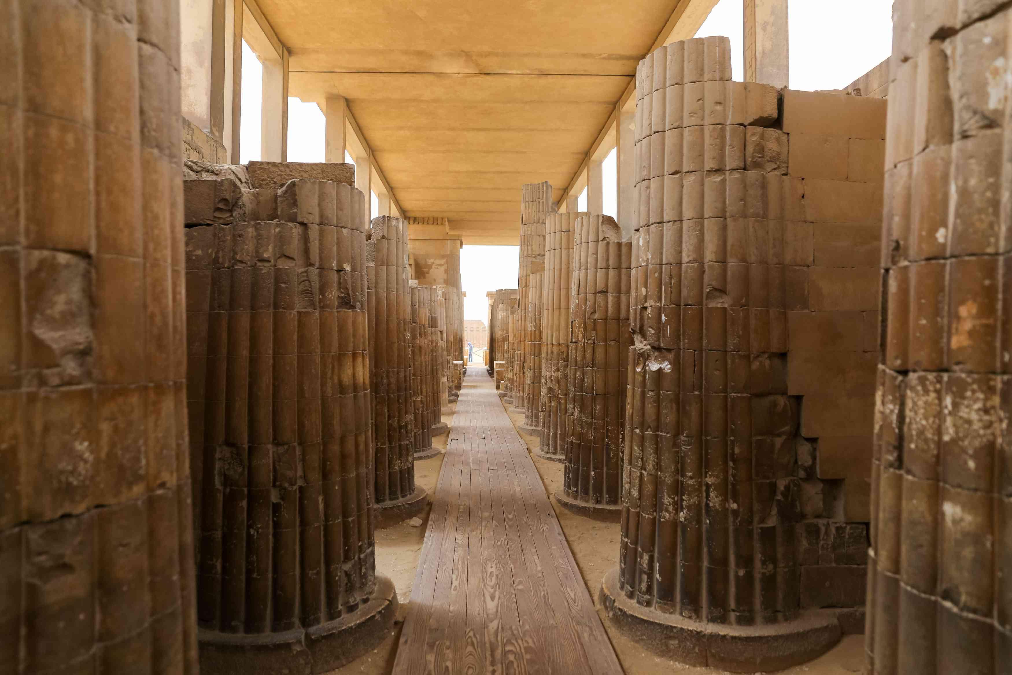 Interior of Old Kingdom Funerary Complex at Saqqara