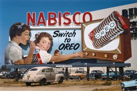 Old Nabisco billboard advertising Oreos