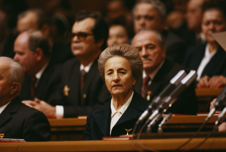 Elena Ceausescu at the Opening of Romanian Communist Party Convention