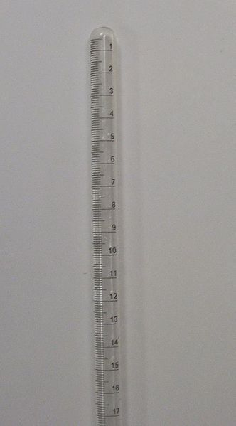 A eudiometer is a piece of glassware used to measure the change in volume of a gas.