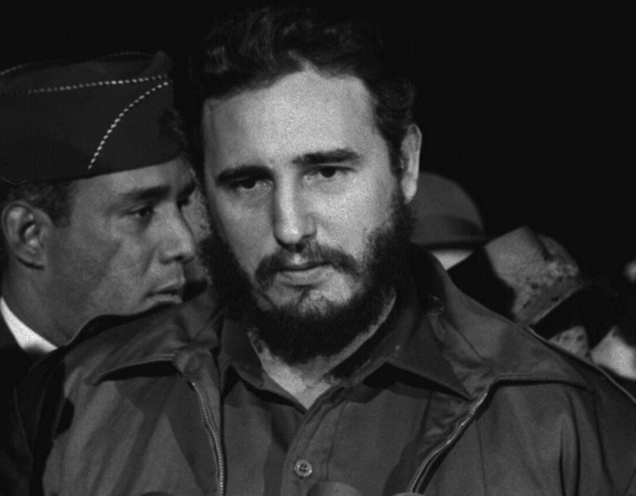 Fidel Castro arrives MATS Terminal, Washington, D.C., 1959